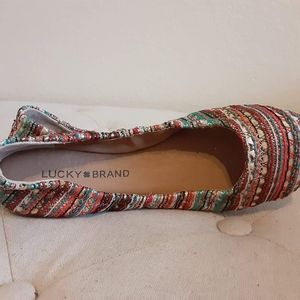 Lucky Brand Shoes - New LUCKY BRAND Emmie Ballet Flats Multicolored